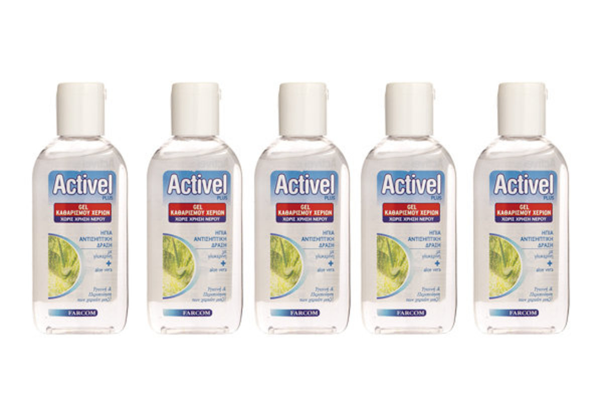 歐洲Activel plus 70%酒精殺菌免洗搓手液(蘆薈滋潤保濕配方)80ml- 5支