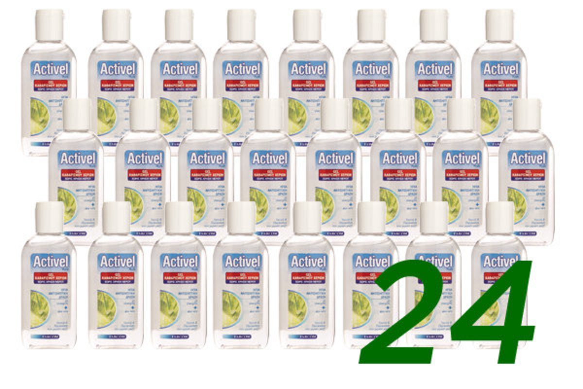 Europe Activel plus 70% alcohol hand sanitizer(with Aloe)80ml- 24 PCS