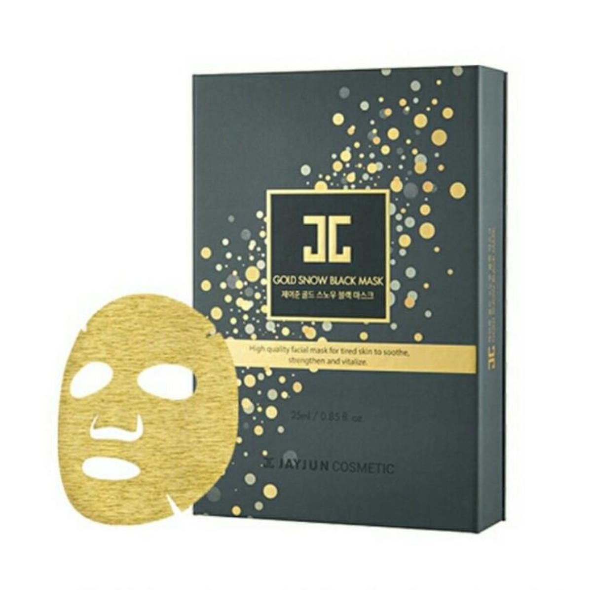 Gold Snow Black Mask (5pcs/pack) -[Parallel Import Product]