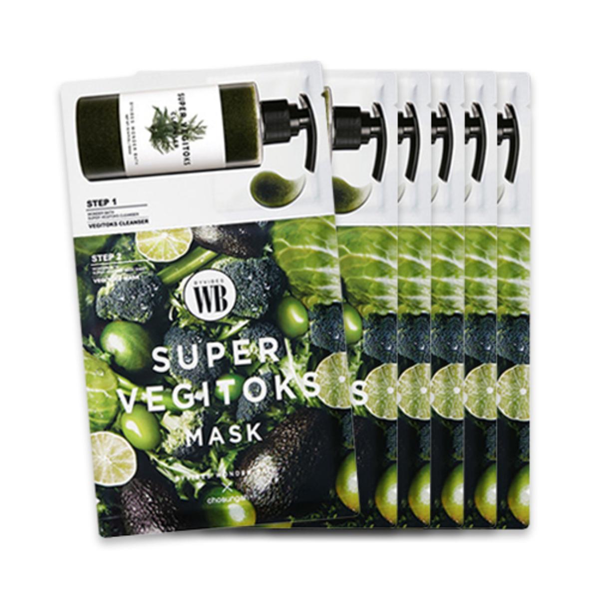 蔬果排毒面膜 (6片/盒) -[平行進口]