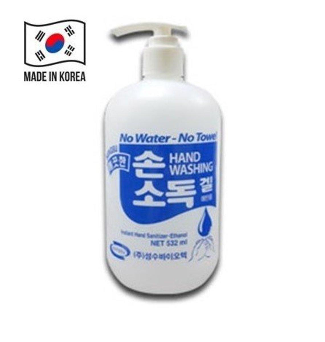 韓國免洗62%酒精消毒搓手液 532ml