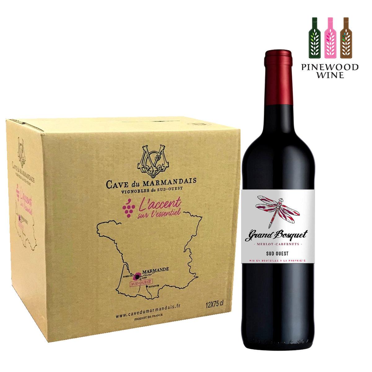 [原箱] 法國大樹蜻蜓紅酒 IGP Rouge, South West, France
