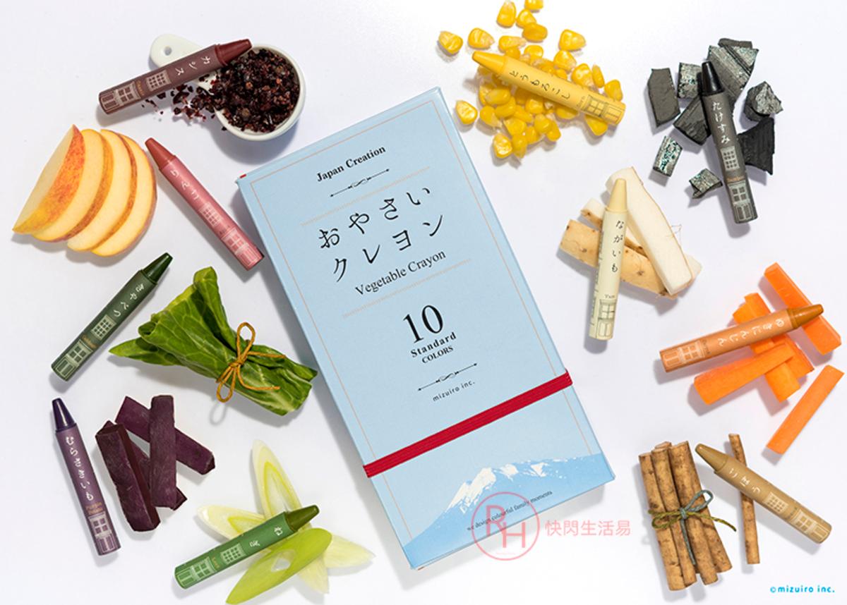 日本mizuiro 蔬菜製蠟筆 (安全無毒)
