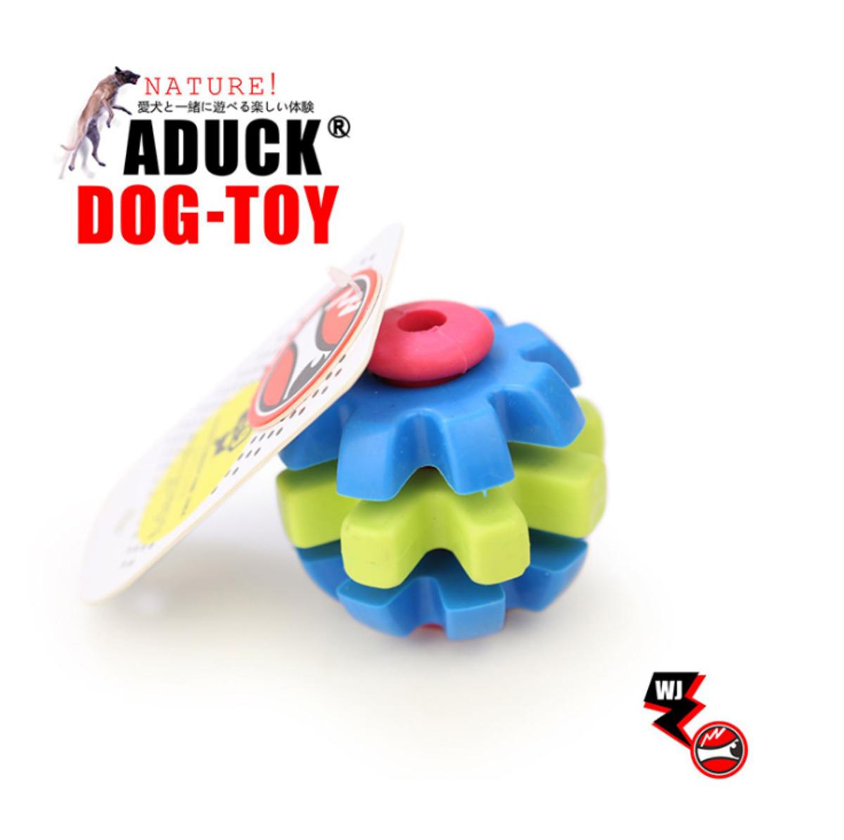 狗玩具 混彩三環轉齒球