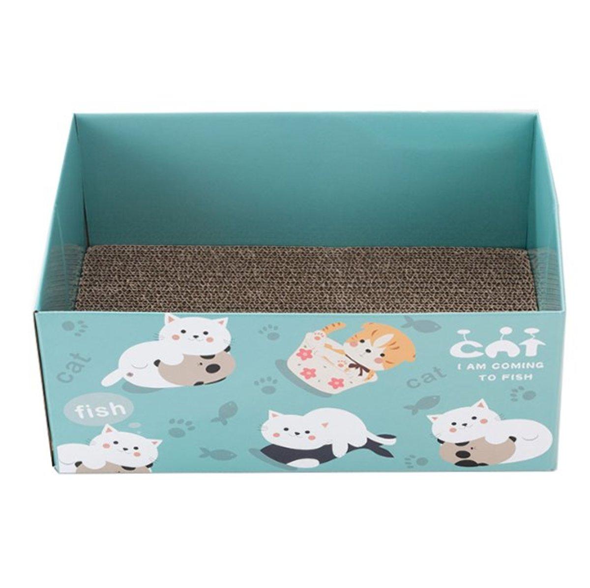 Cat toy cat scratcher box 37x24x16cm Two colour
