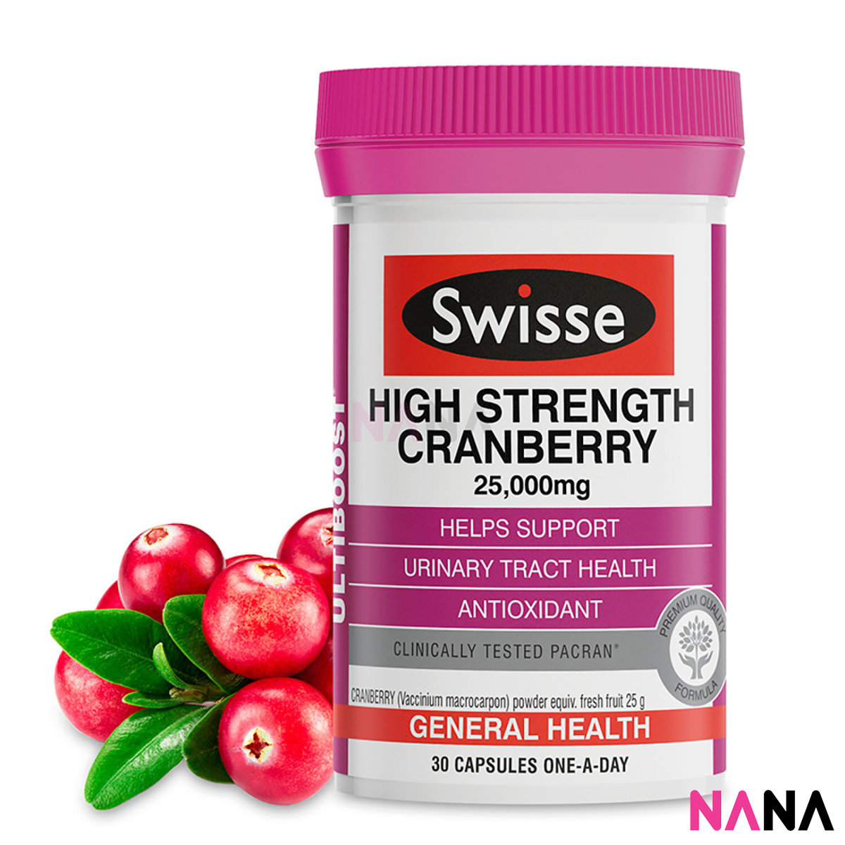 Ultiboost High Strength Cranberry 25,000mg 30 Capsules (EXP:03 2021)