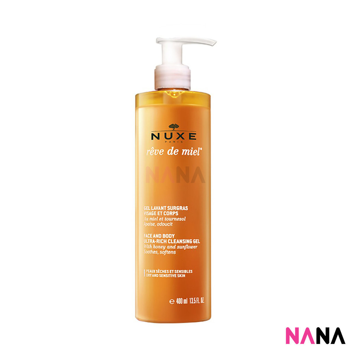 Nuxe Reve De Miel Face And Body Ultra-Rich Cleansing Gel 400ml