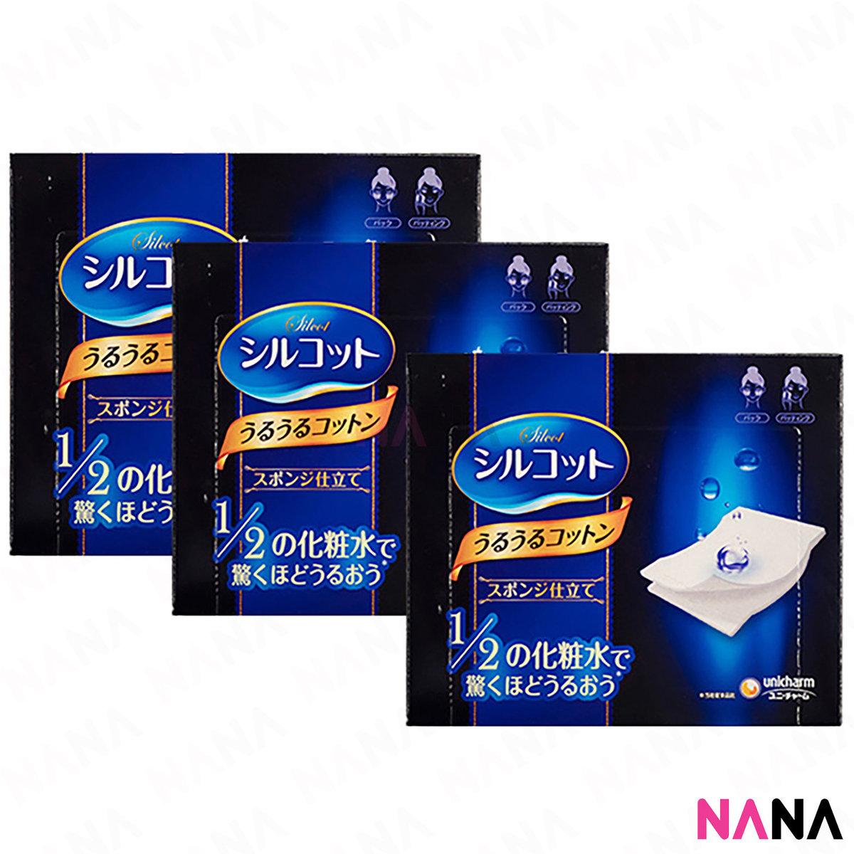 尤妮佳 1/2超吸收超省水化妝棉 40枚/ 盒 (3盒)