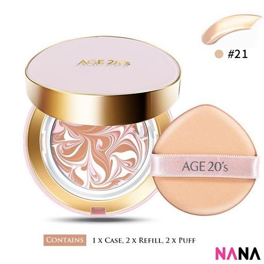 Signature Essence Cover Pact SPF50+ PA++++ (Moisture - Pink) - #21 Light Beige