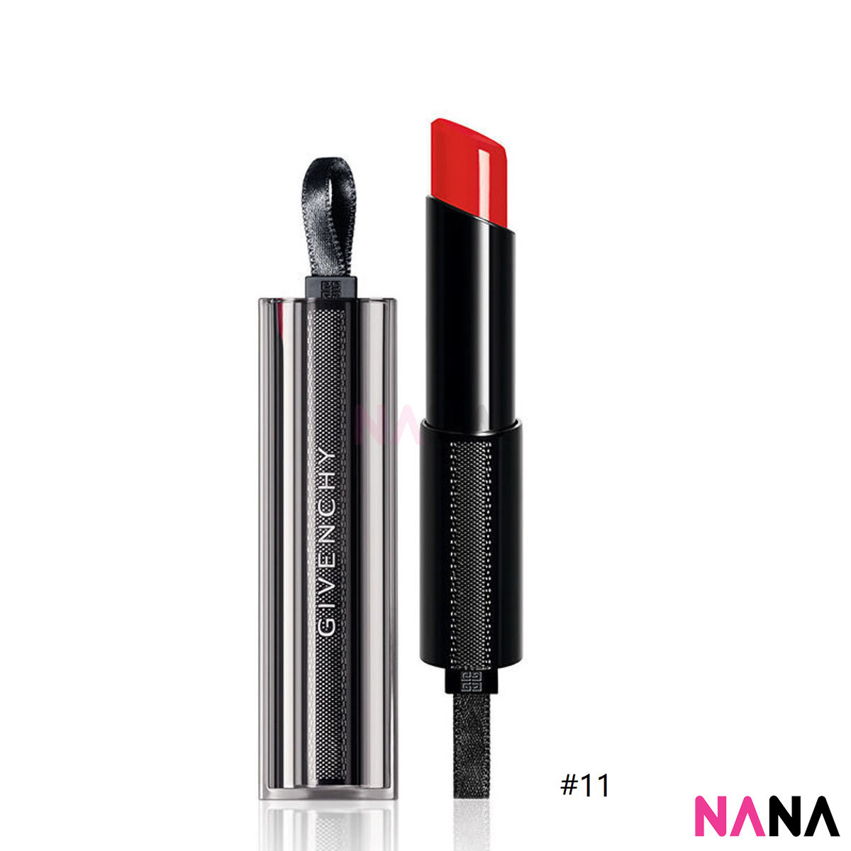 Rouge Interdit Vinyl Extreme Shine Lipstick Illicit Color #11 Rouge Rebelle 3.3g