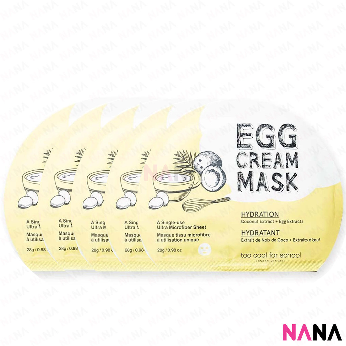 Egg Cream Mask Yellow 5pc