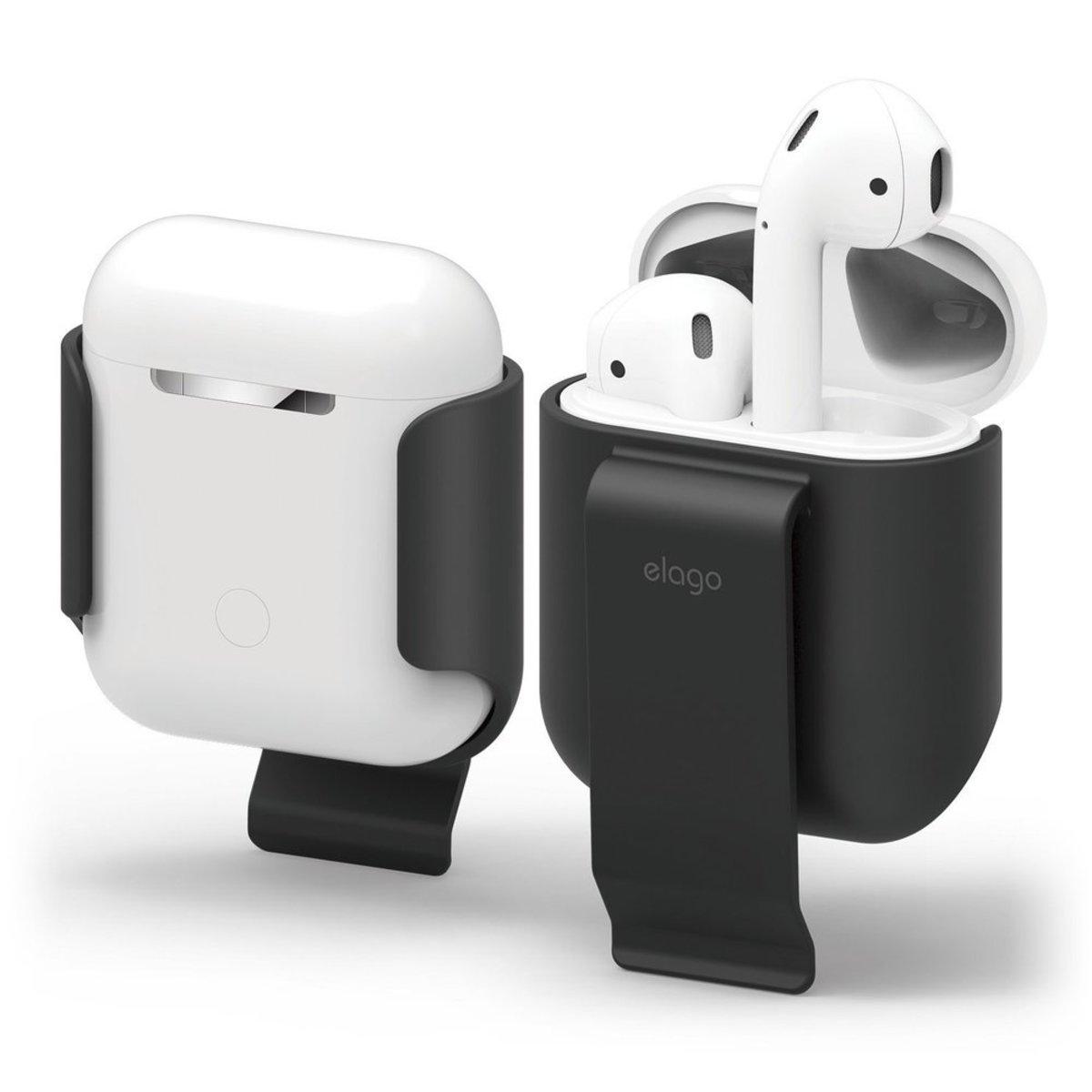 [清貨] Airpods 1/2 便携皮帶夾防丟充電盒掛殼