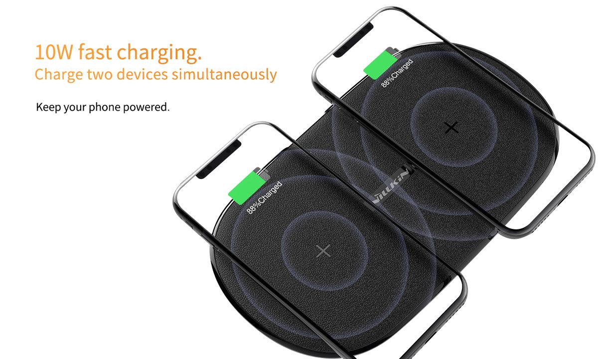 Gemini Dual (7.5W/10W) Fast Wireless Charging Pad