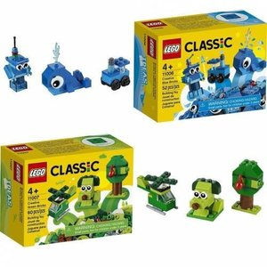 LEGO 11006 or 11007 Classic - Creative Blue or Green Bricks (Random x 1Box)
