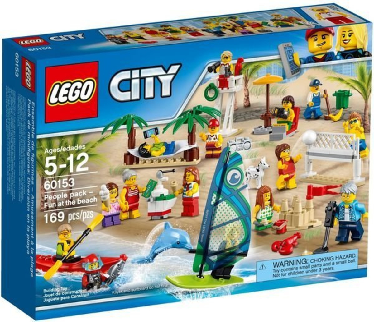 LEGO 60153 CITY Minifigures - People pack – Fun at the beach