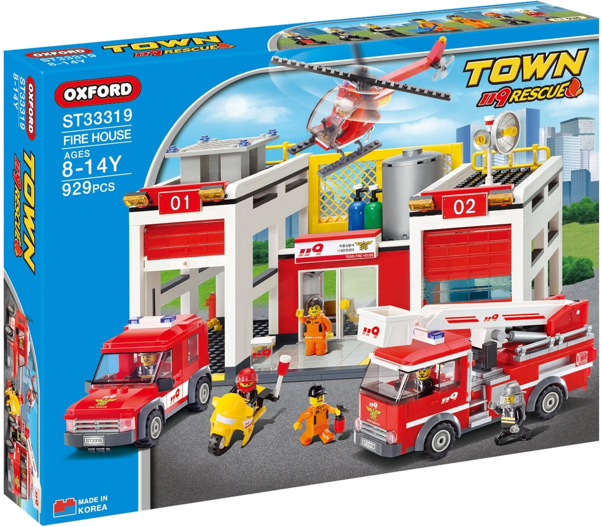 Oxford Blocks ST33319 - FireHouse