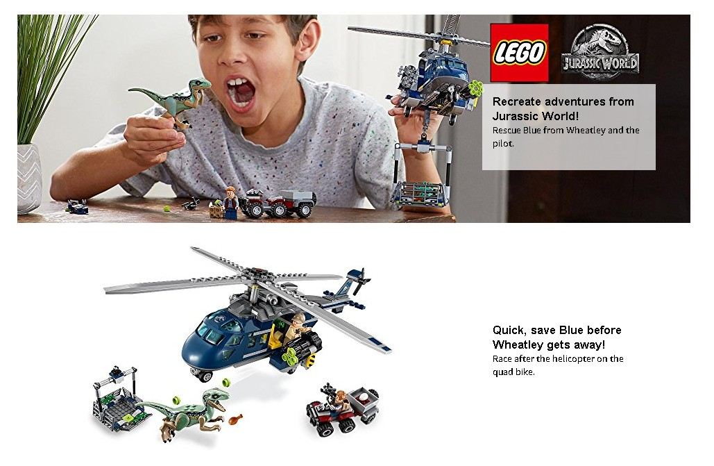 LEGO Jurassic World 75928 Guard Pilot with Goggles Blue/'s Helicopter Pursuit