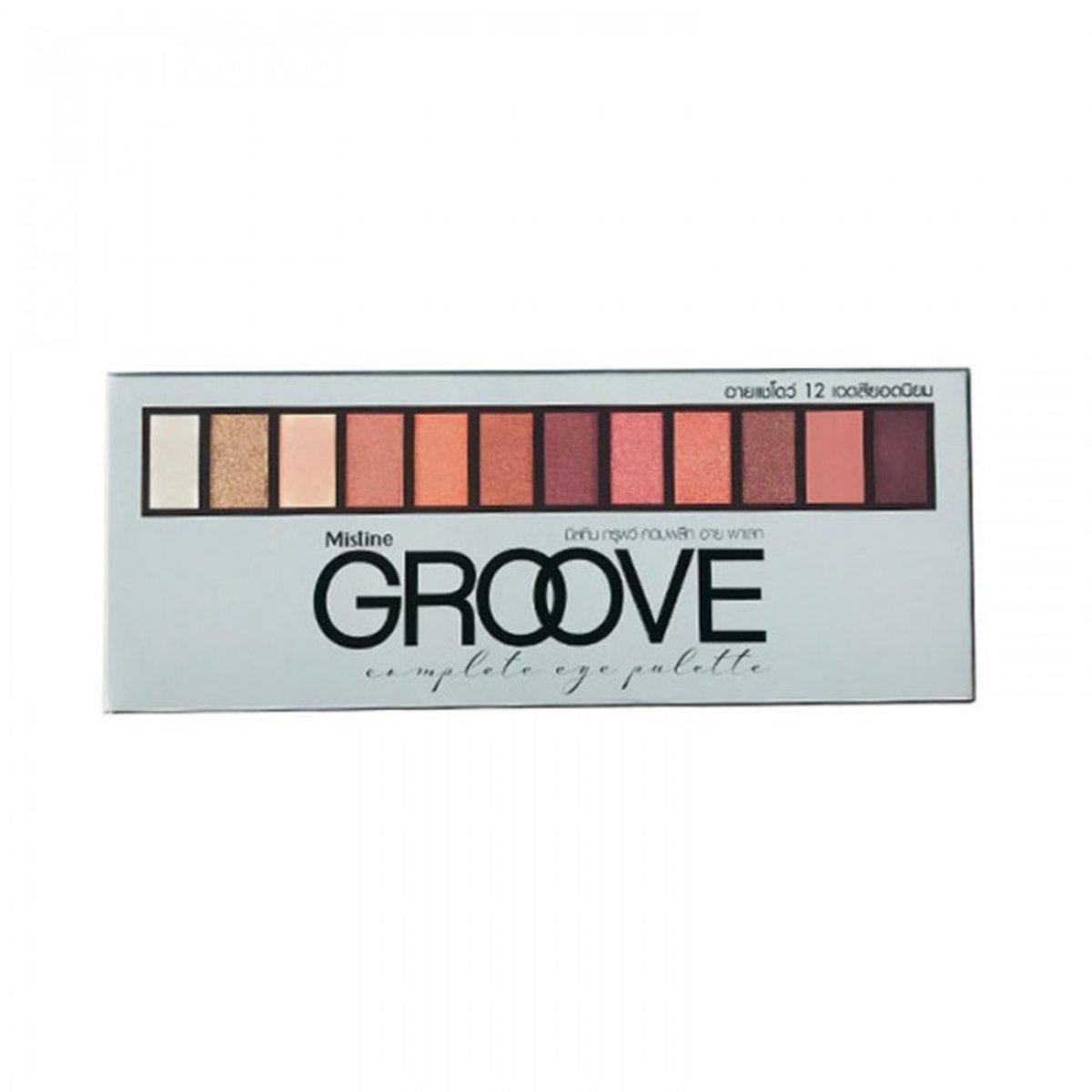Groove 12 Colors Eye Shadow Complete Eye Palette