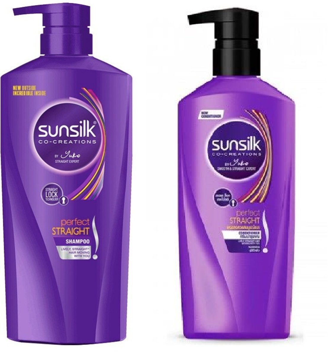 Perfect Straight Hair Conditioner 650ml + Shampoo 650ml