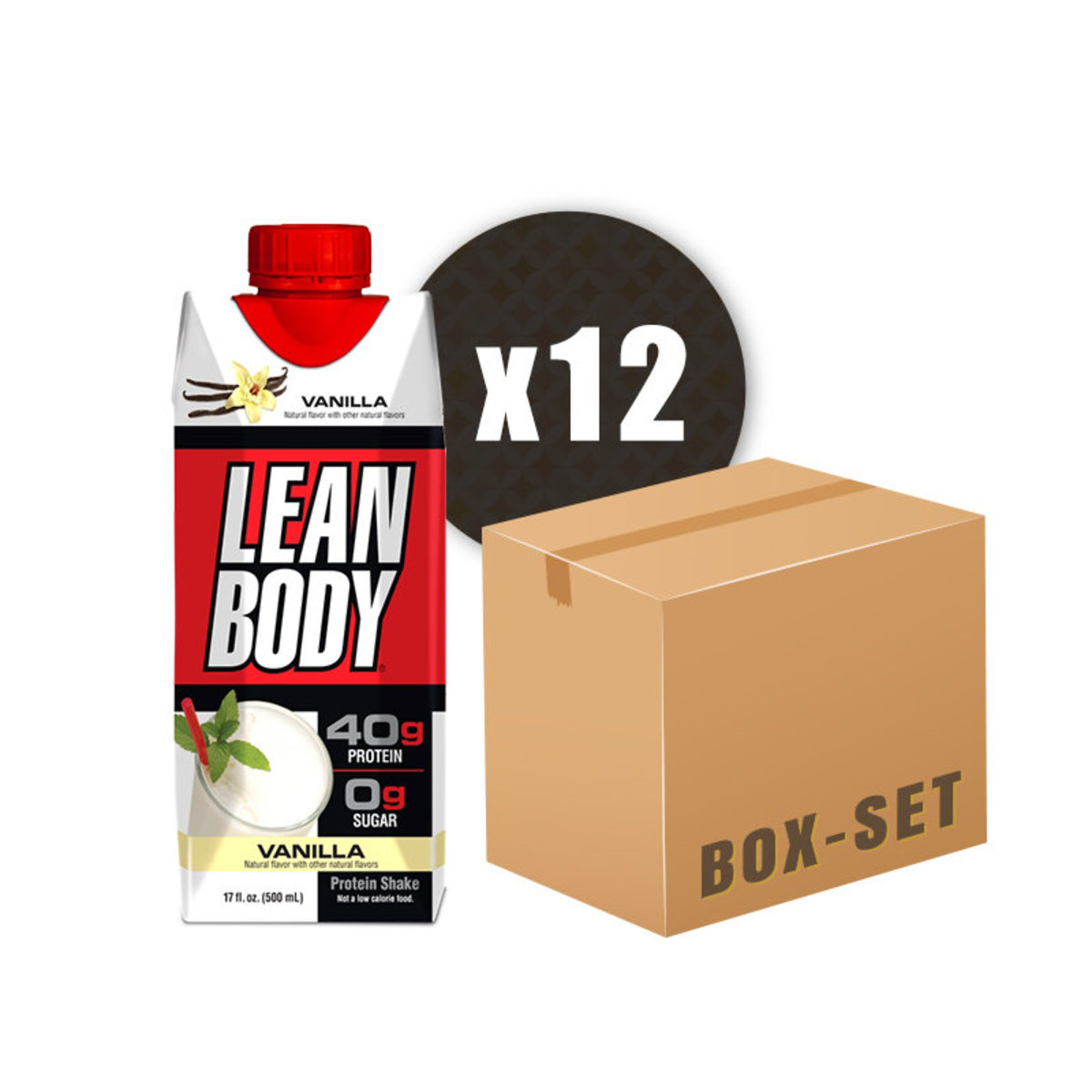 Lean Body RTD 17Oz - Vanilla Ice Cream X12
