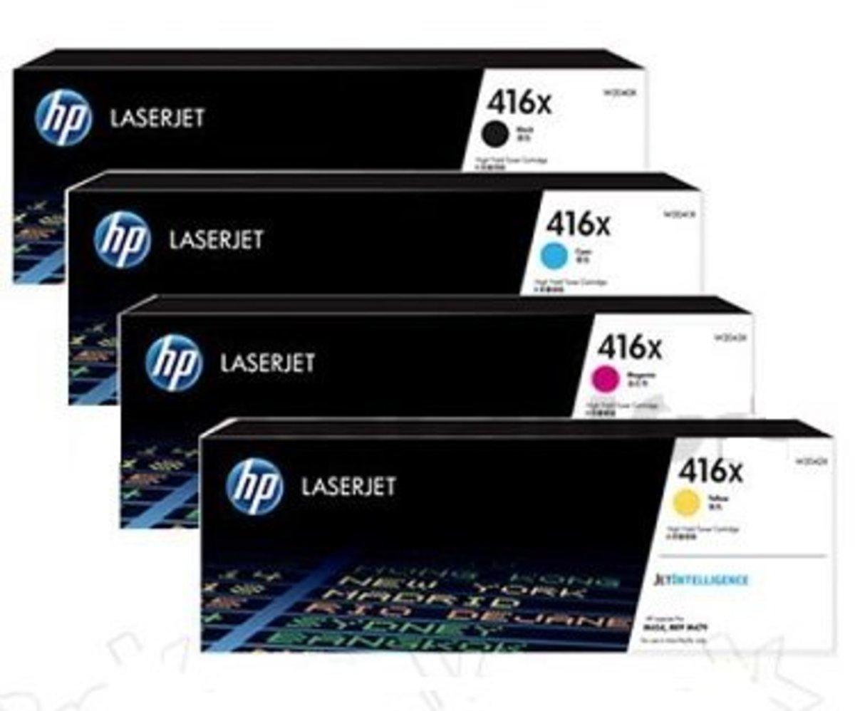 416X 原廠 Color LaserJet 高容量碳粉盒4色套裝