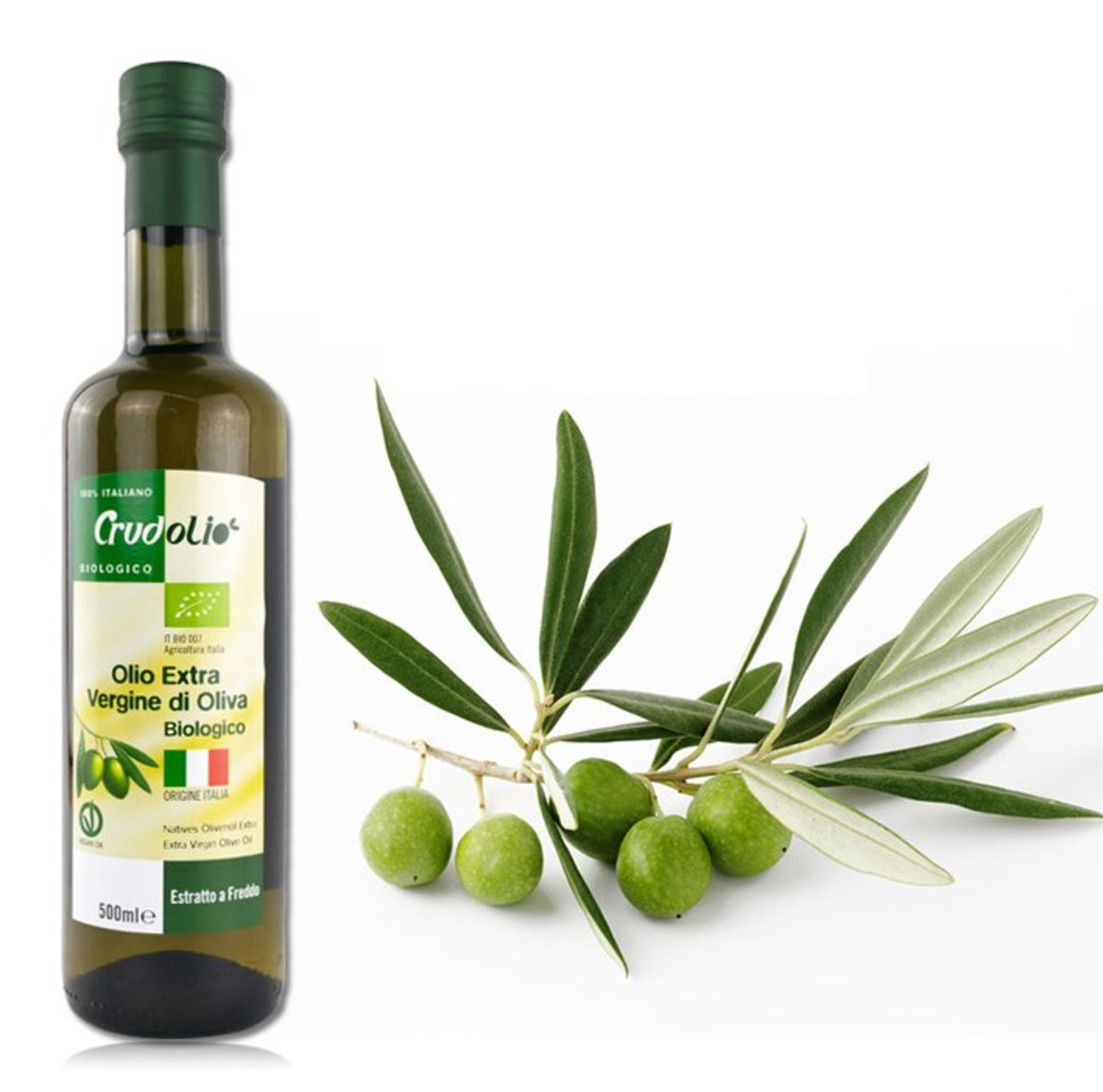 100% Italian Oil 意大利油 - Organic Italy Vegan Extra Virgin Olive Oil (500ml)