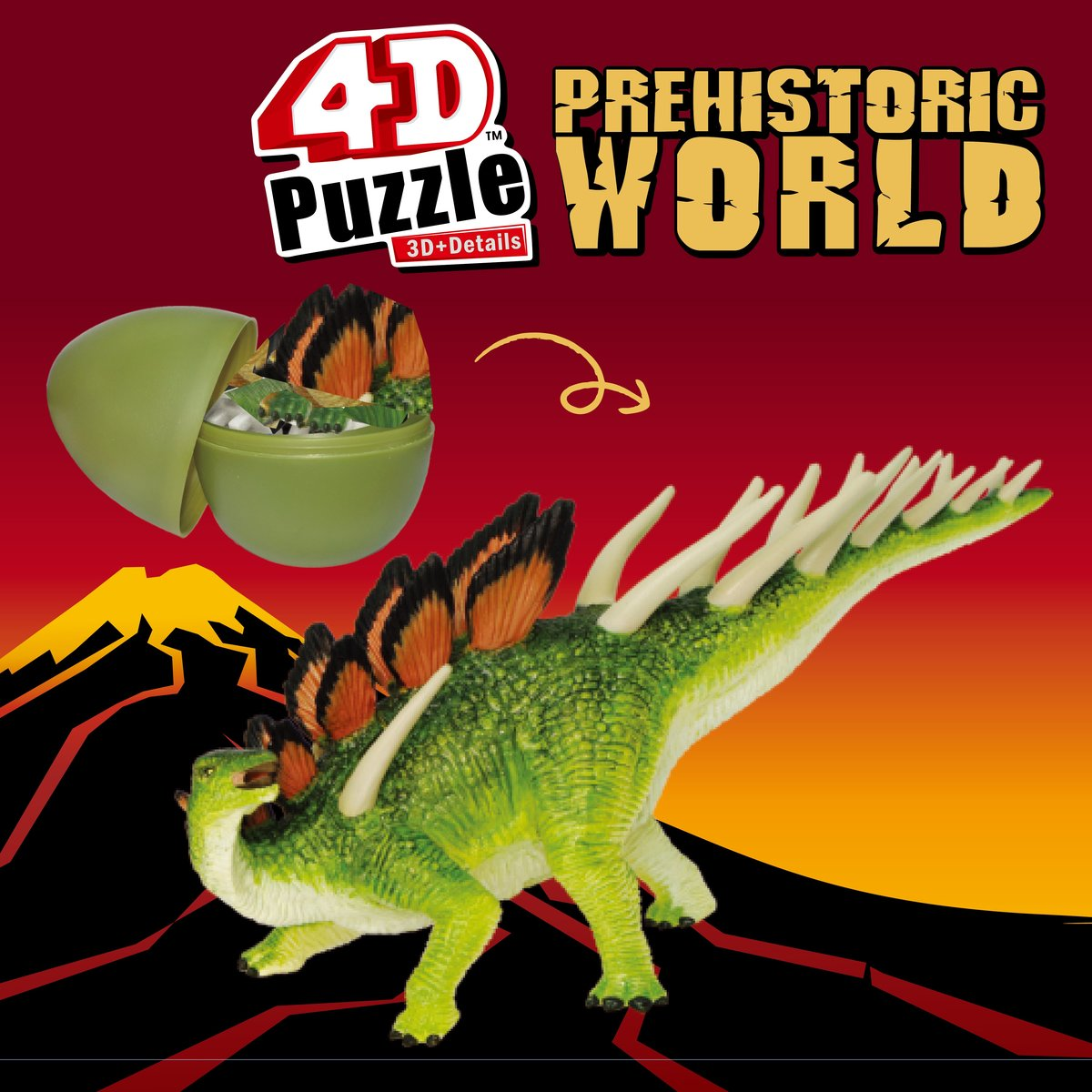 STEM Puzzle 拼圖 - 4D恐龍拼圖史前世界-釘狀龍