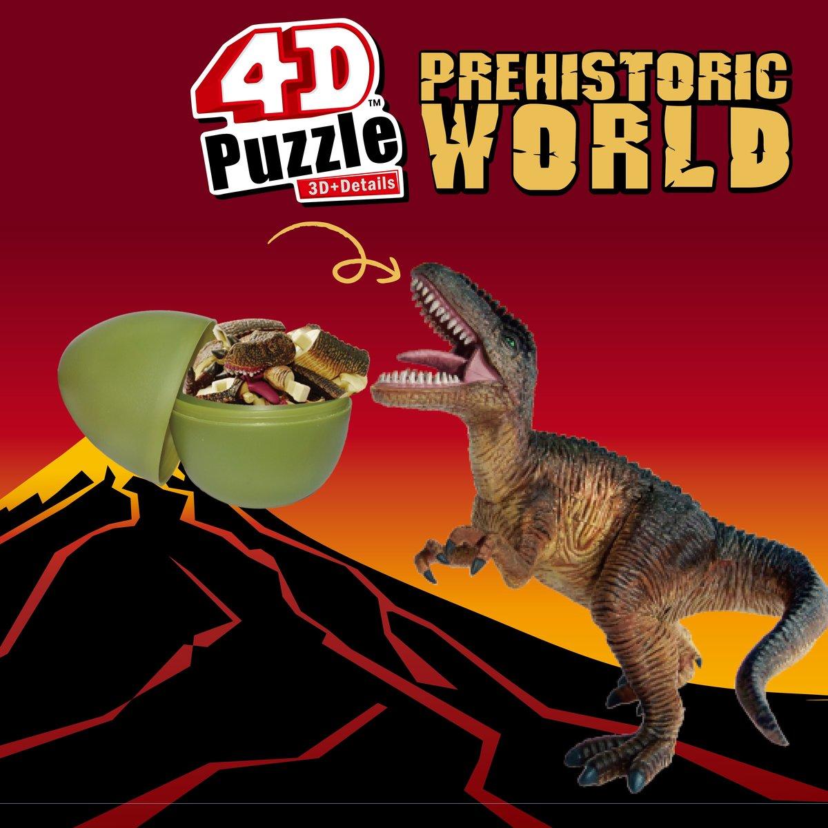 STEM Puzzle 拼圖 - 4D恐龍拼圖史前世界-三角龍