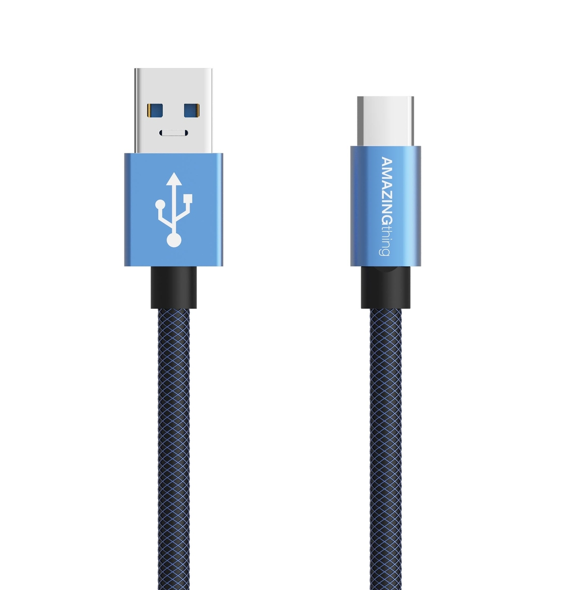 Type-C 3.1 1米 急速充電極耐用數據轉輸線(藍色)