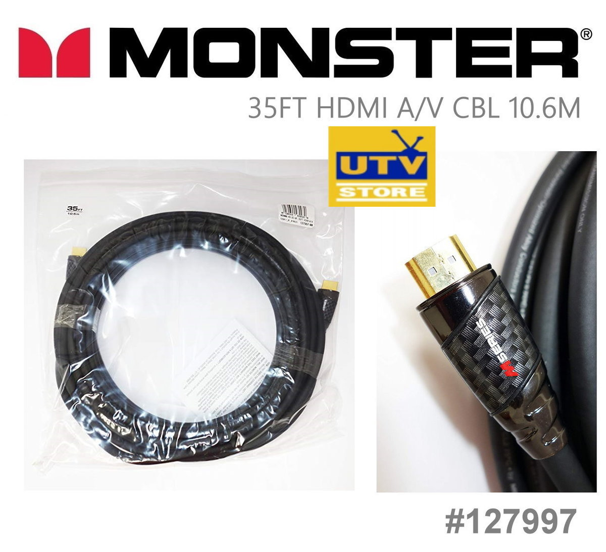 127997 M2000 HDMI A/V Cable 10.6m / 35ft