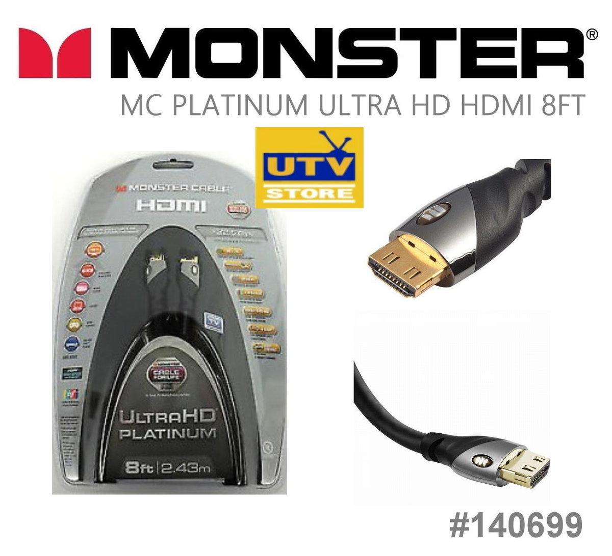 140699 UltraHD Platinum HDMI Cable 2.43m / 8ft