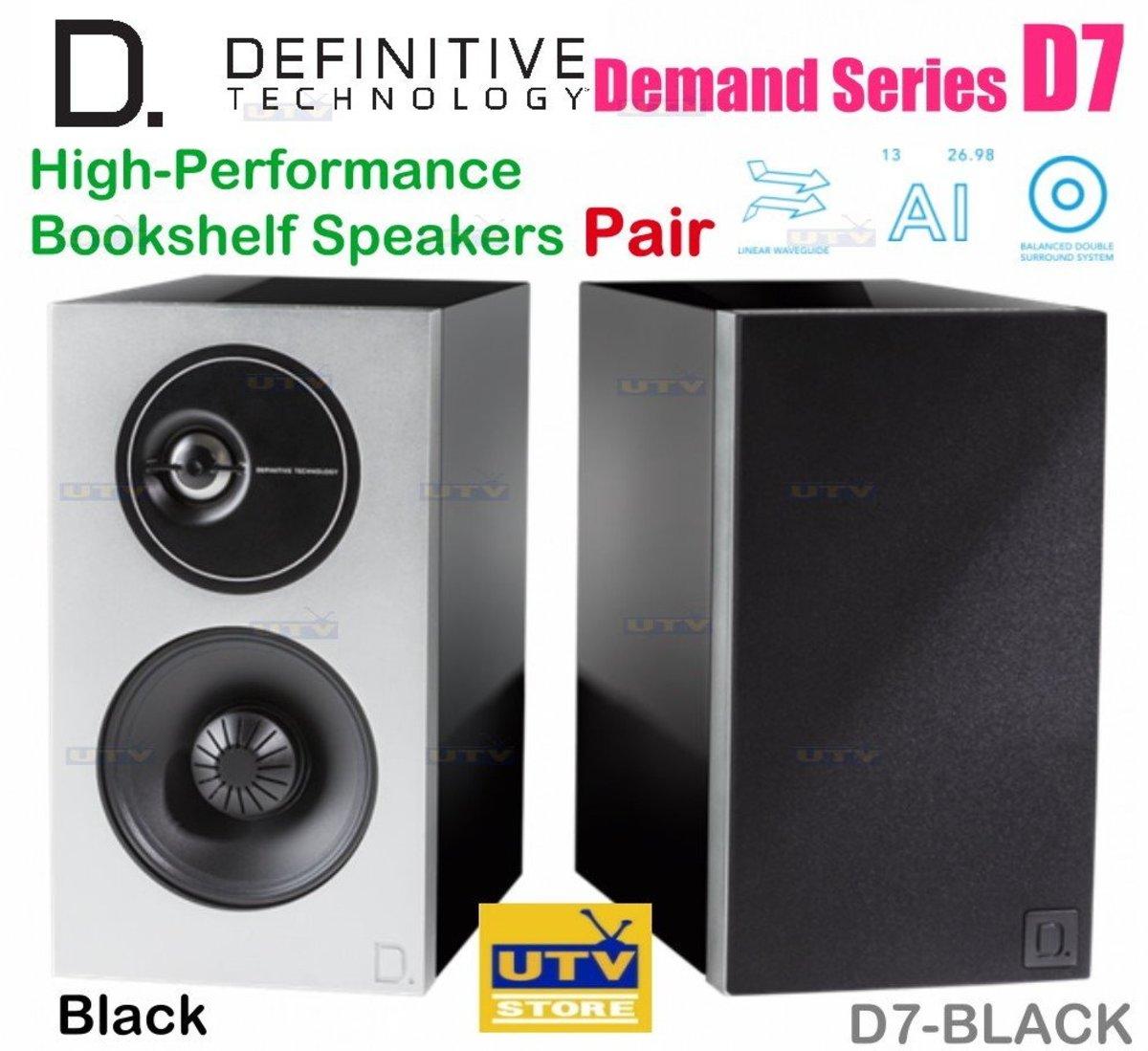 D7 Definitive High-Performance Bookshelf Speakers (BLACK)