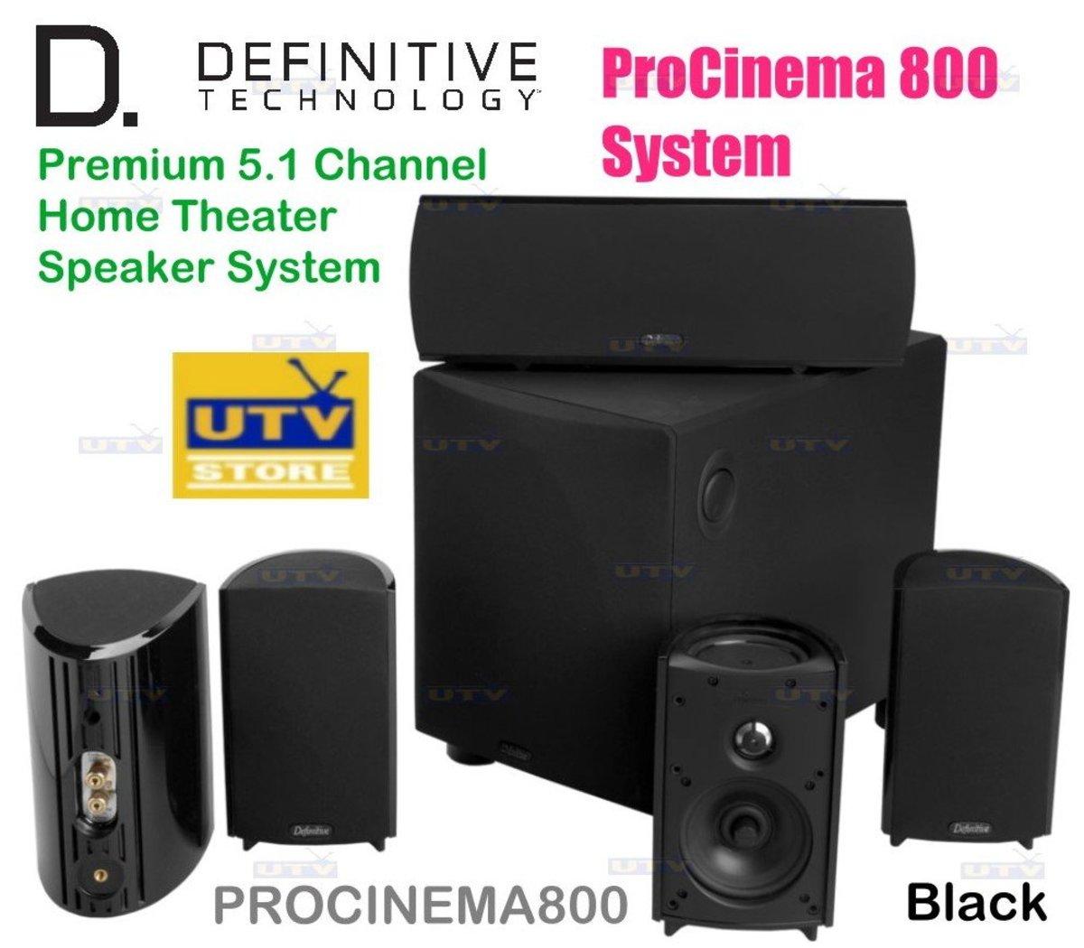 ProCinema 800 Definitive Premium 5.1 Channel Home Theater Speaker System