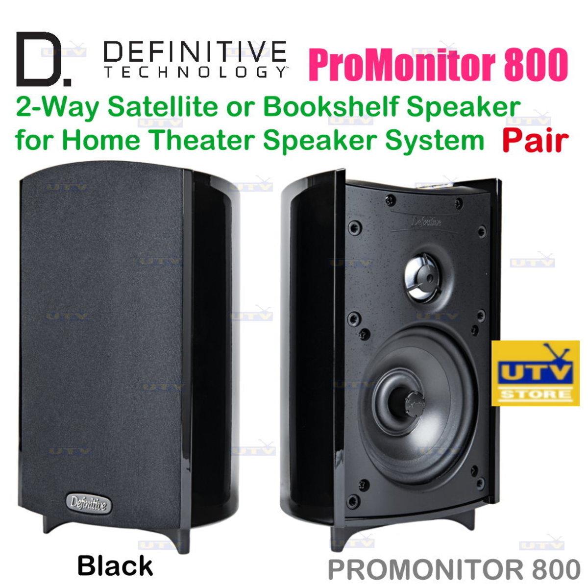 ProMonitor 800 Definitive Bookshelf Speaker for Home Theater Speaker System
