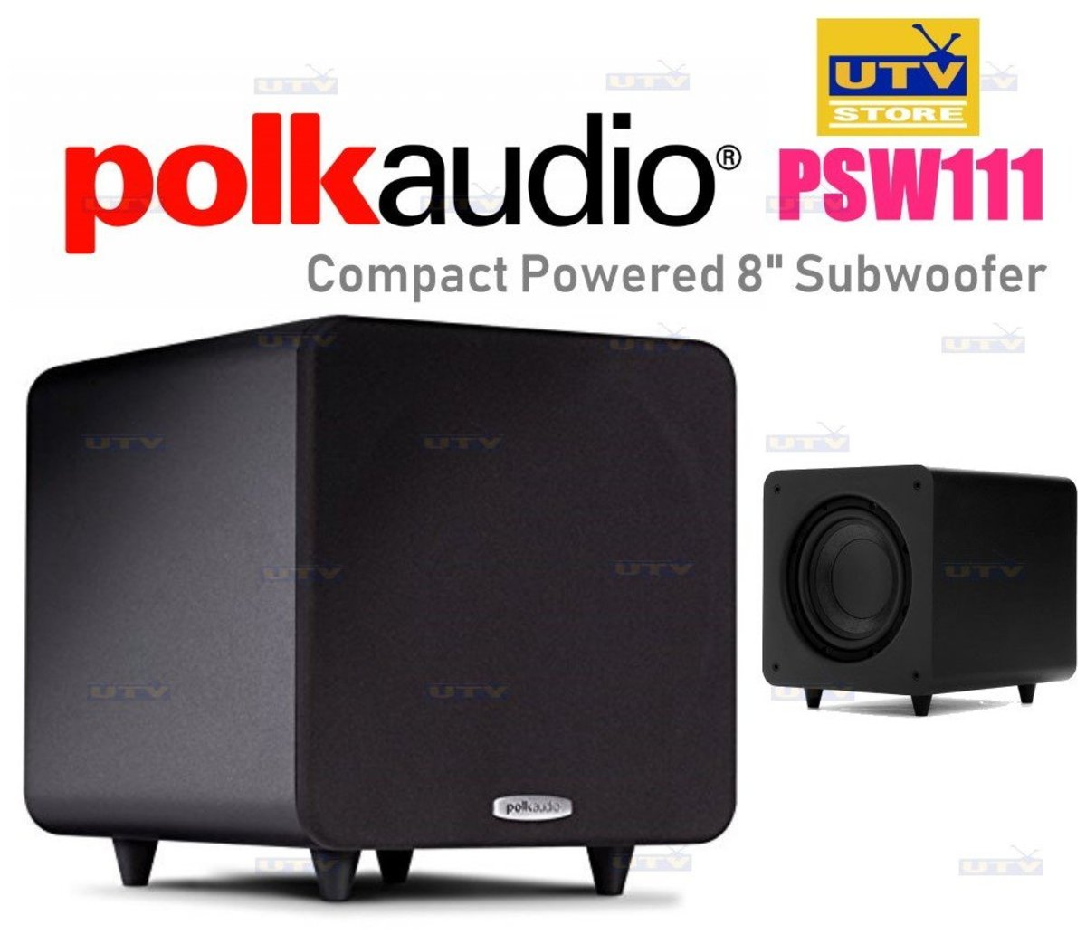"""PSW111 Compact Powered 8"""" Subwoofer"""