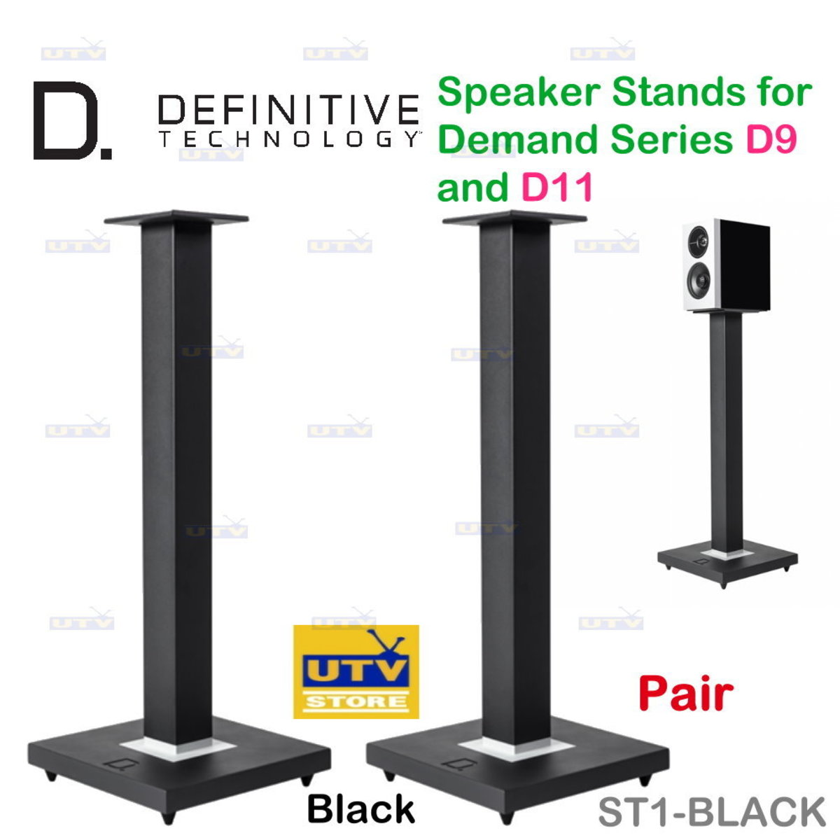 ST1 Definitive Speaker Stands for Demand Series D9 and D11
