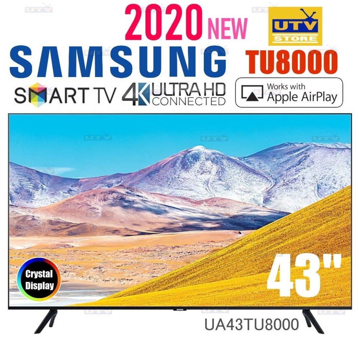"""UA43TU8000 43"""" TU8000 Crystal UHD 4K TV"""