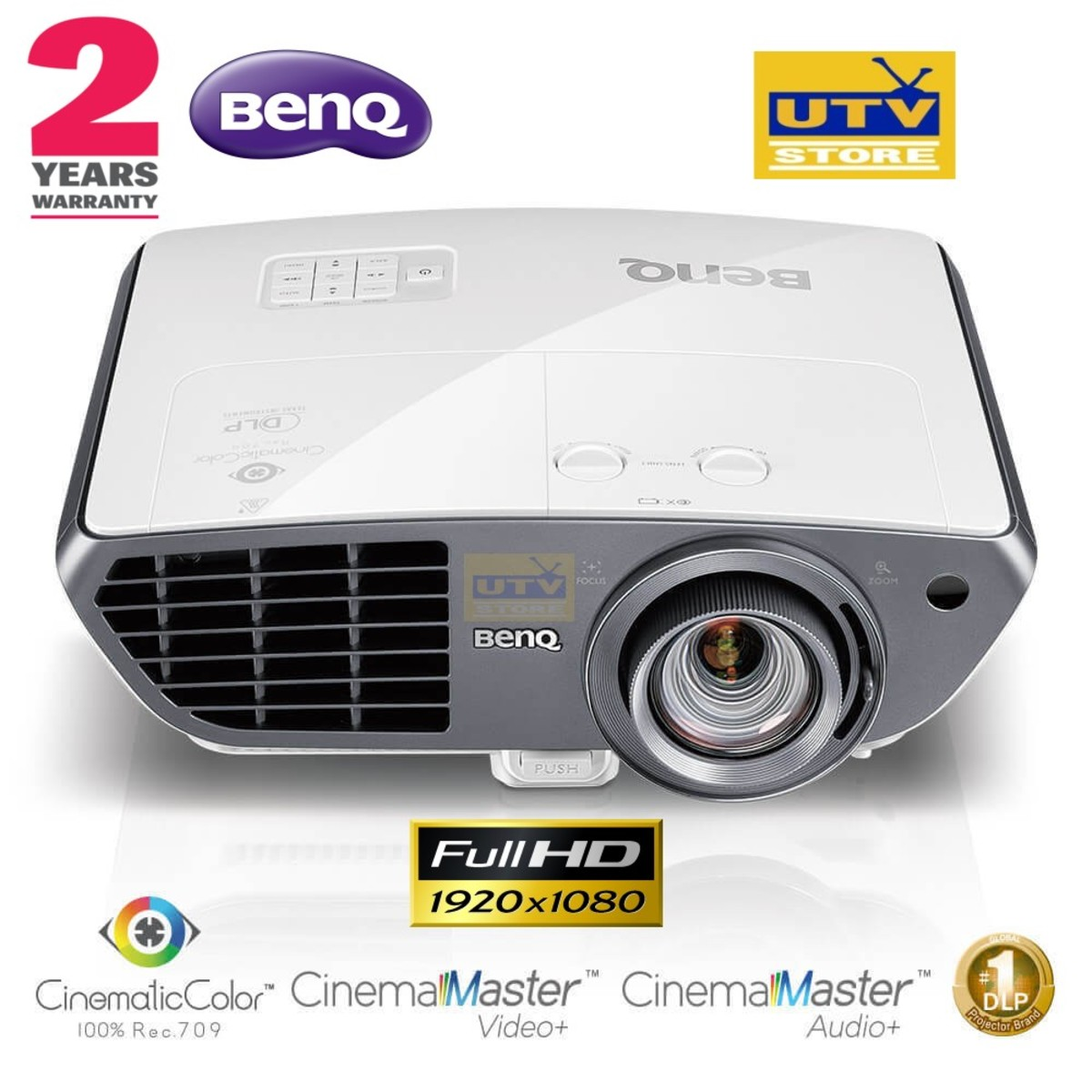 W3000 Home Cinema Projector with 100% Rec.709,Video Enhancer (2 years warranty)