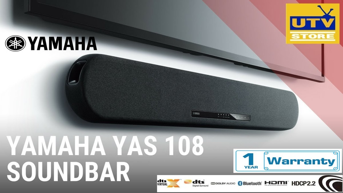 YAS108 Soundbar with DTS Virtual X ready (1-year warranty)