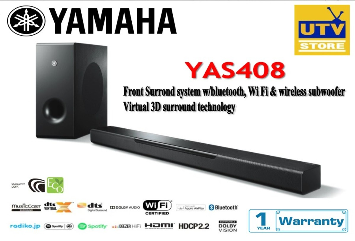 YAS408 MusicCast BAR 400 Front Surround System (1-year warranty)