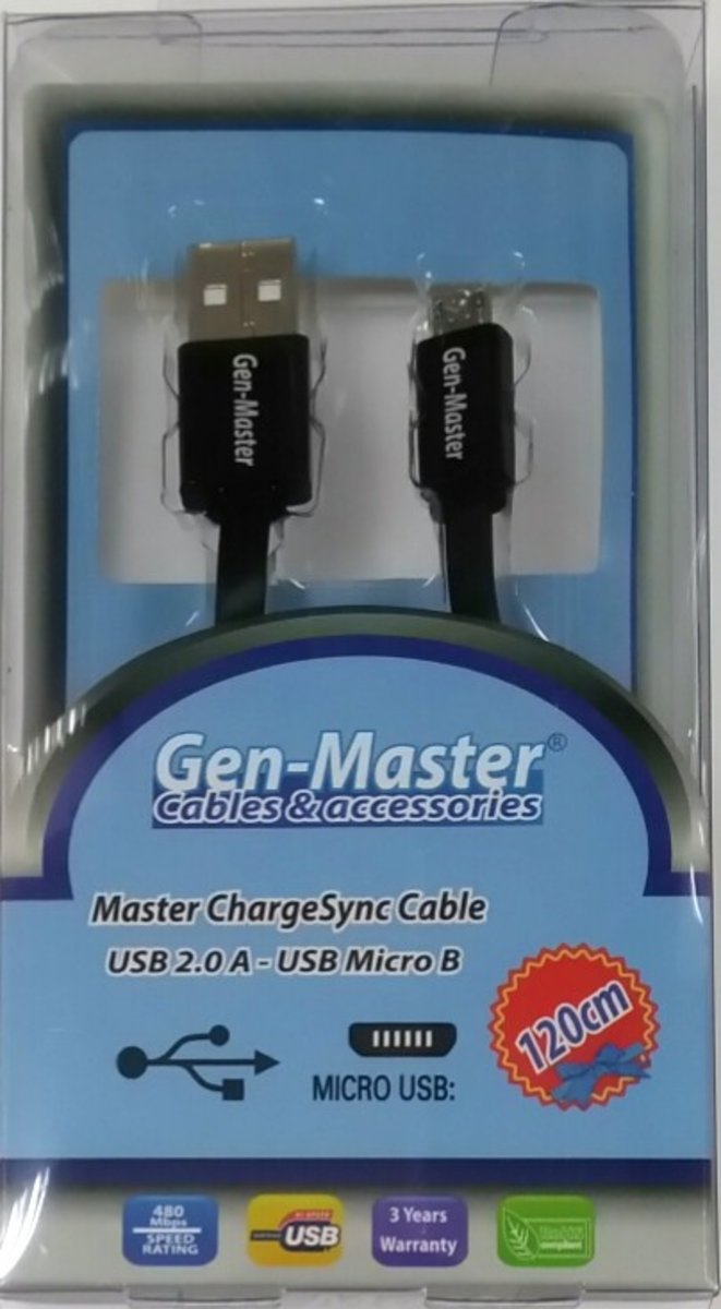 Android USB Charge and Sync Cable 1.2M (USBIF Certified)