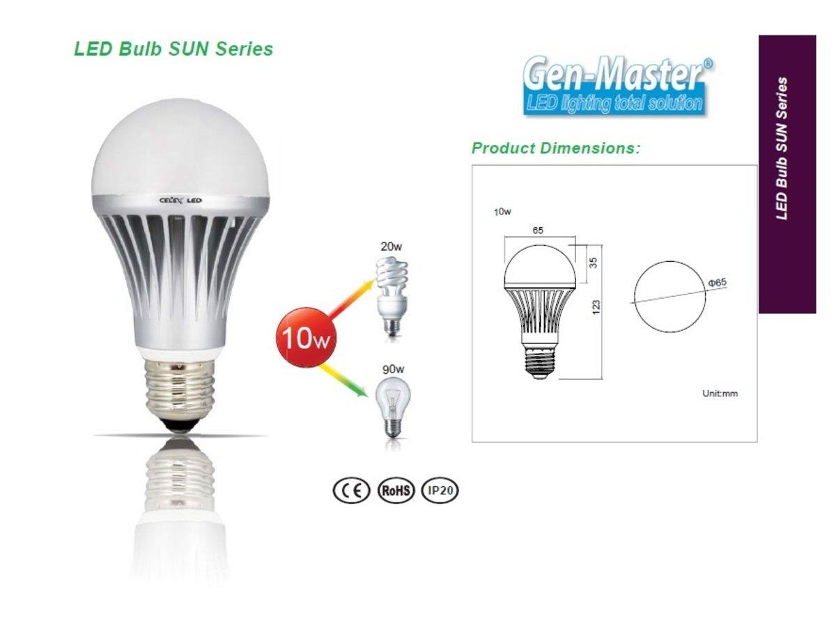 太陽系列 LED 燈泡 10W 6500K 冷白光 大螺頭 E27