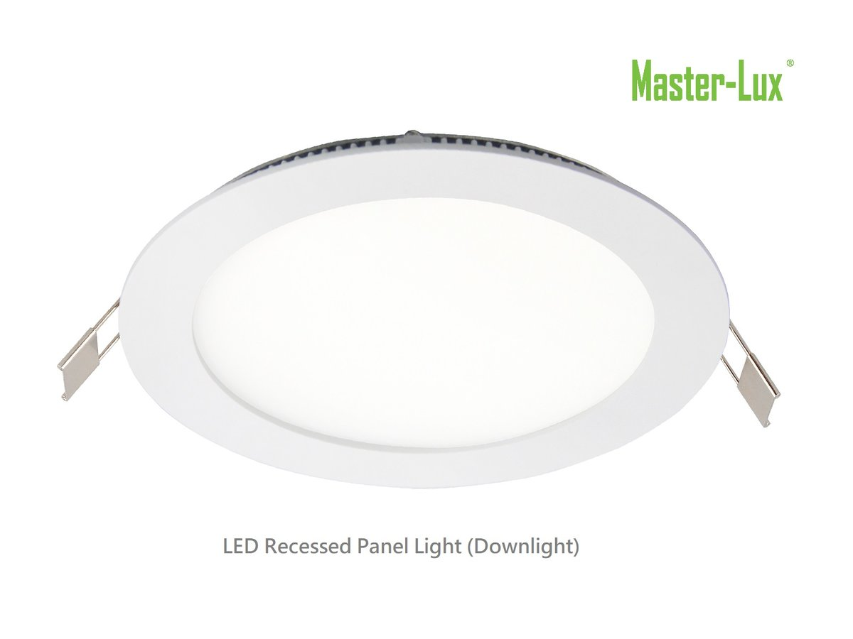 LED Panel Downlight, 5 Inches, 9W, AC 85-265V, 3000K Warm White