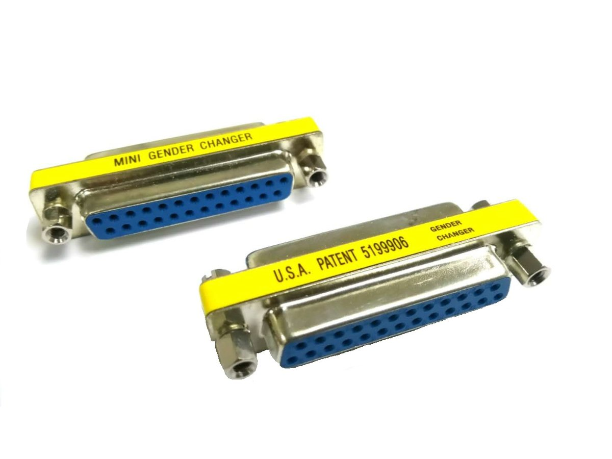 2 Pieces of VGA DB25 25 Pins Female to Female Connector