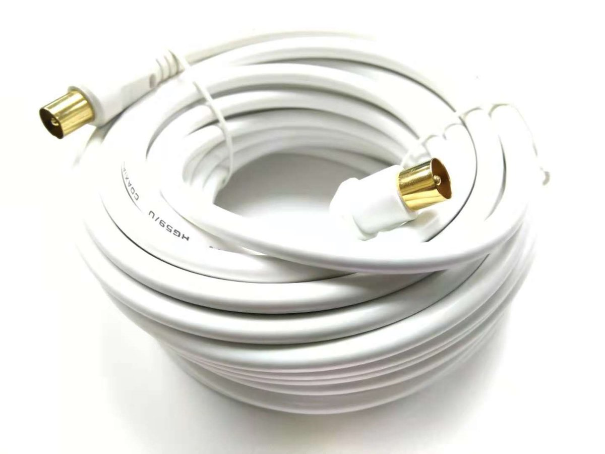 TV Coaxial Cable, Male to Male, 40 Feet (12 Metres)