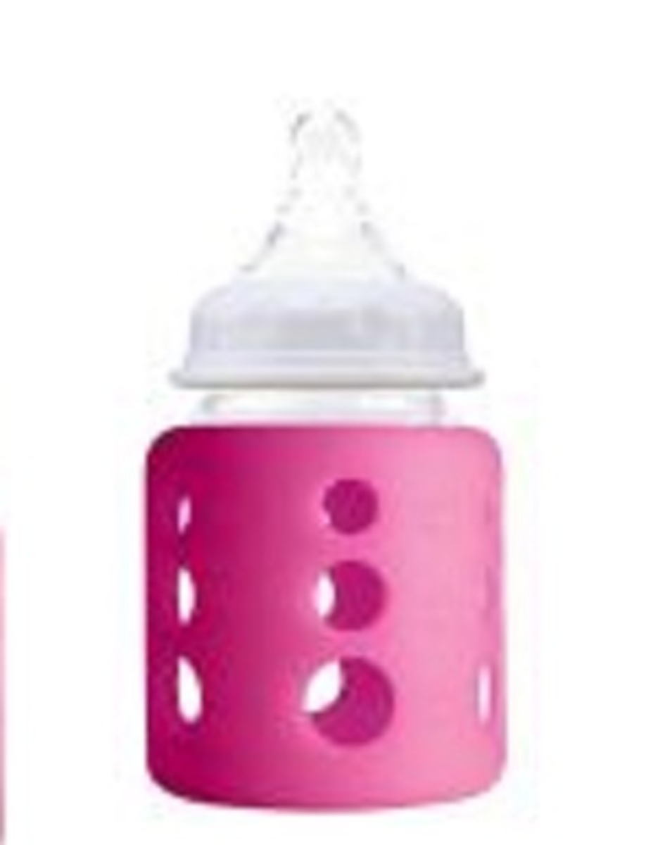 Cherub Baby Australia Colour Change Natribottle Glass Bottle Wide Neck 150ml 5oz - Blue