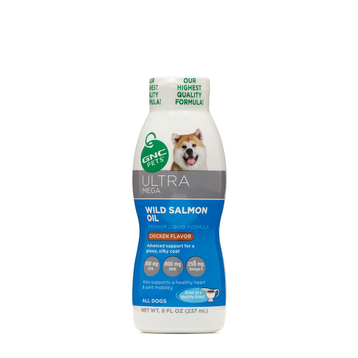 Ultra Mega Wild Salmon Oil for Dogs 8oz, Chicken Flavor (Parallel Import Product)