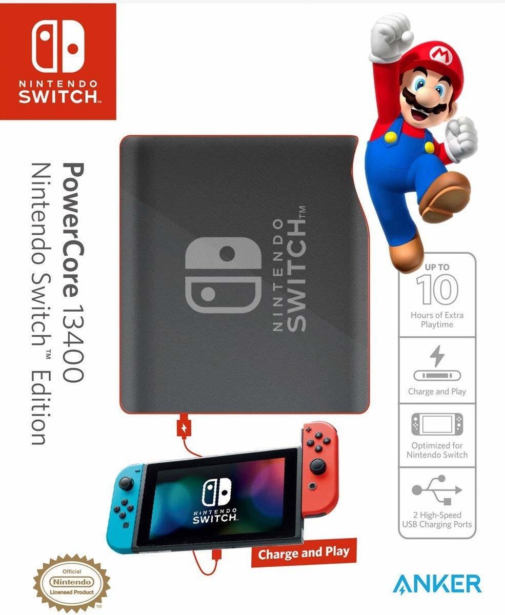 NINTENDO 官方授權 PowerCore 13400 PD 外置充電器 NINTENDO EDITION (任天堂Switch)