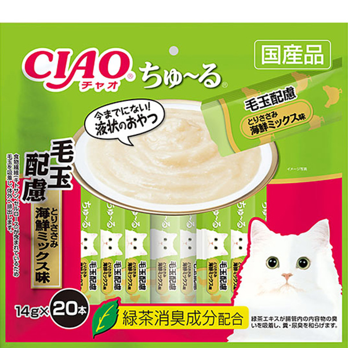 Chicken and Seafood mixed Cream Soup 14g x 20 (Hairball Control) [Parallel Import Product]